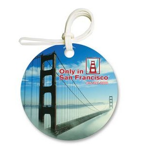 Bag & Luggage Tag - Round - Full Color